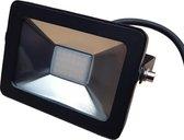 Buitenlamp zwart | LED 10W=100W halogeen schijnwerper | daglichtwit 6000K | waterdicht IP65