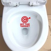 Rode toiletsticker Hit the Target / Raak het doel