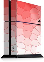 Playstation 4 Console Skin Cells Rood Sticker