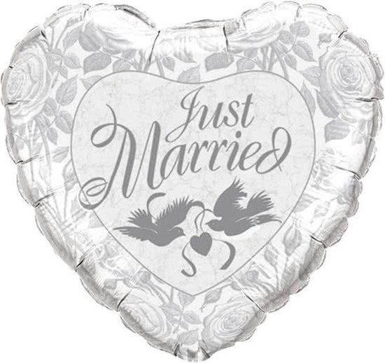 Just Married Hart Ballon Duiven