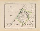 Historische kaart, plattegrond van gemeente Katwijk in Zuid Holland uit 1867 door Kuyper van Kaartcadeau.com
