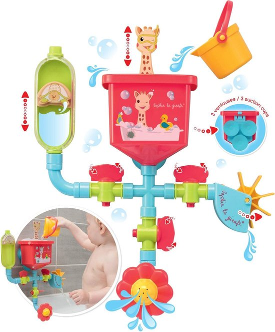 Sophie de giraf badspeelgoed Pipes Folies waterbuizen festijn