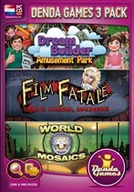 Denda Games 3 Pack: Amusement Park + Film Fatale: Lights, Camera, Madness + World Mosaics 6 - Windows