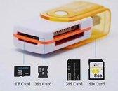 Multifunctionele SD kaart lezer USB stick, leest micro SD, SD, MS kaart, M2 kaart | Connection Kit|USB 2.0 | Adapter