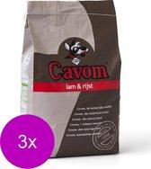 Cavom Compleet Adult - Lam & Rijst - Hondenvoer - 3 x 5 kg