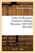 Lettres a Madame Recamier, 1807-1830