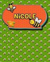 Handwriting Practice 120 Page Honey Bee Book Nicole