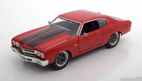 Dom's Chevrolet Chevelle SS Fast and Furious rood / zwart 1-24 Jada Toys