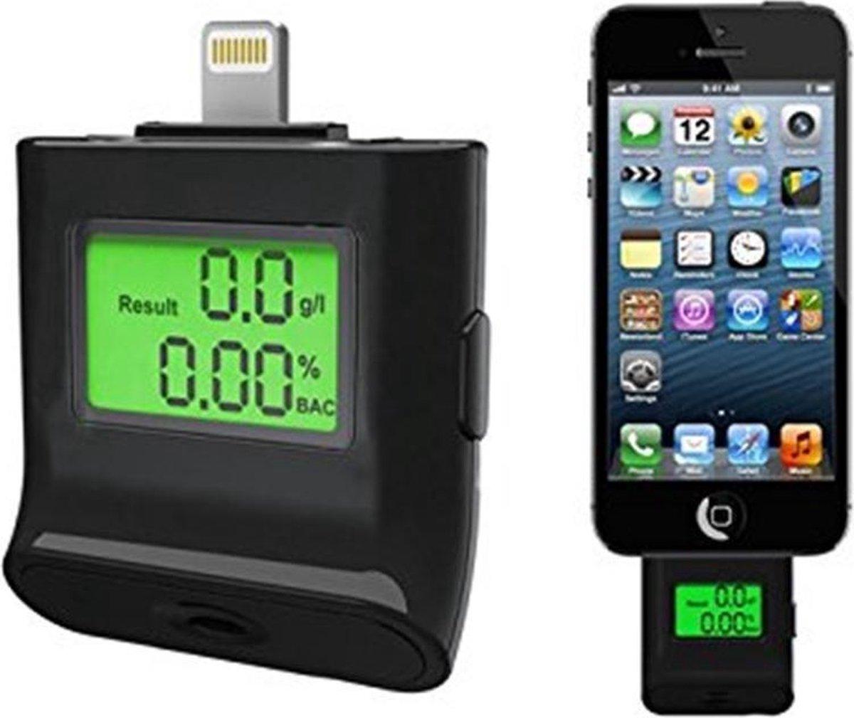 Alcohol tester   alcholtesten   smartphone   iphone 5,6,7  blaastest   alcohol   IOS   Ipad mini, air   gadget - JY&K