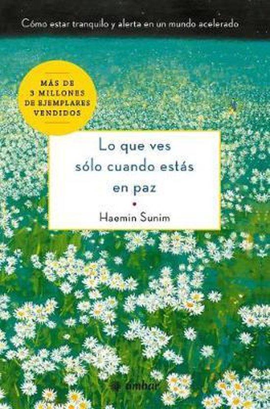 Boek cover Lo Que Ves S lo Cuando Est s En Paz van Haemin Sunim (Paperback)
