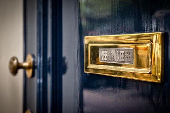 nee nee sticker VINTAGE TIN gratis verzending! brievenbussticker geen reclame, nee nee ANTIEK VINTAGE LOOK deurbordjes, ja nee, nee ja - Schild Nederland