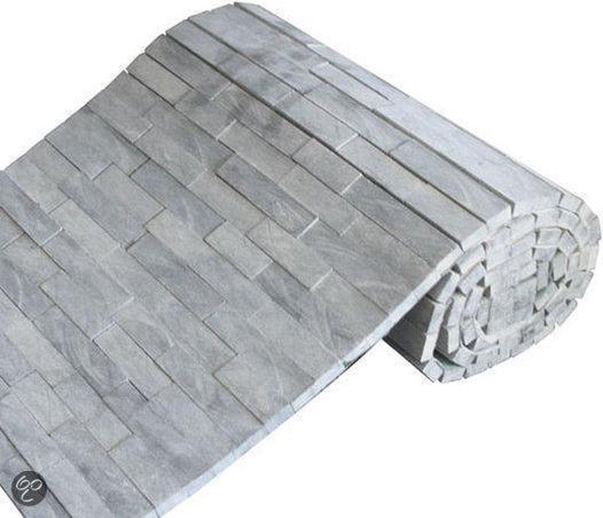 Mozaiek Brickstone rol dark-grey 34,0x150,0 cm -  Grijs Prijs per 1 rol. - max4home