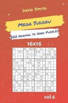 Mega Sudoku - 200 Normal to Hard Puzzles 16x16 Vol.6