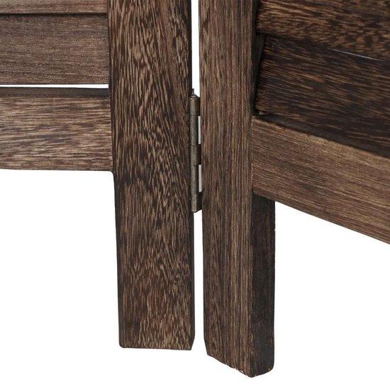 Brulo   Scheidingswand 4 platen bruin hout - Brulo