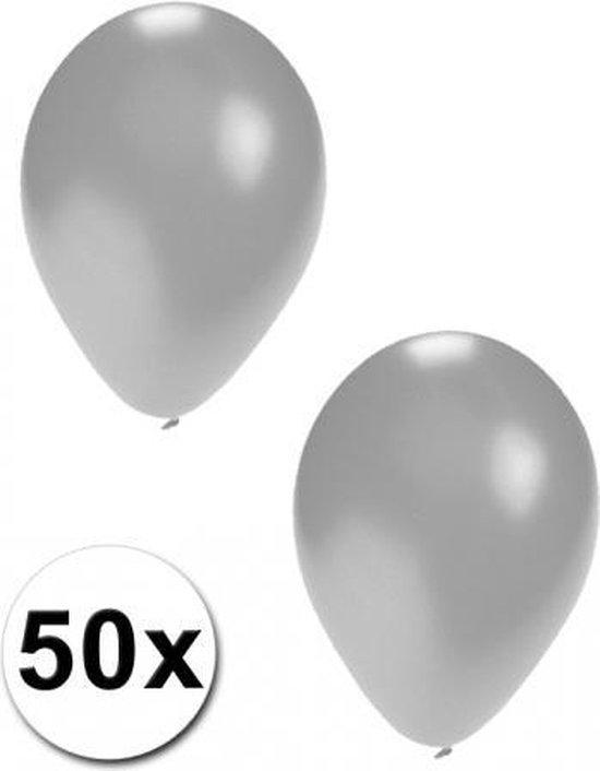 50 ballonnen zilver