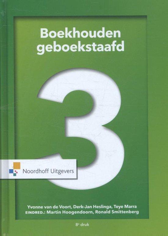 Boek cover Boekhouden geboekstaafd 3 van Yvonne van de Voort (Hardcover)
