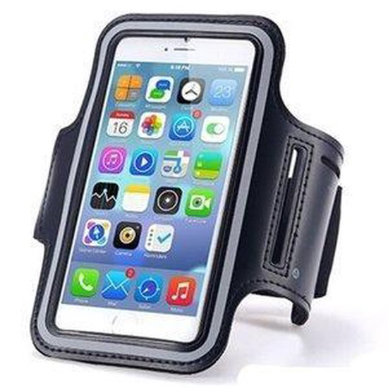 Sportarmband iPhone 6 / 6s/ 7 hardloop sport armband - Zwart - Hoesjesplanet.nl