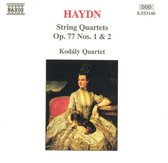 Haydn: String Quartets Op 77 nos 1 & 2 / Kodaly Quartet