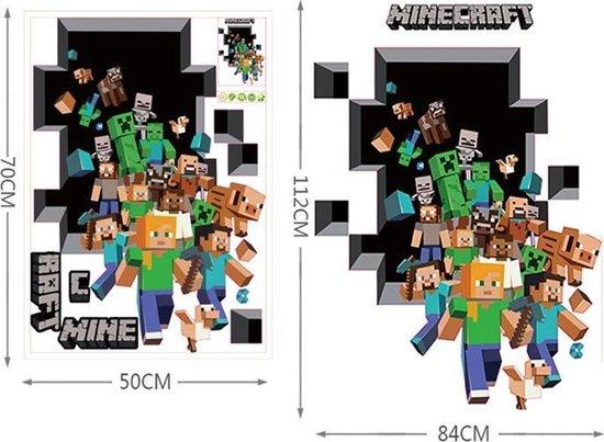 3D Minecraft Game Muursticker / Muurposter Jongens Slaapkamer