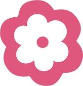 Roze bloemen muurstickers - 10 stuks - 8x8cm