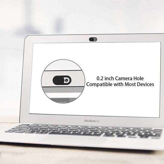 Webcam Cover - Privacy schuifje - Geschikt voor Macbook, Laptop en Tablet - Zwart - 3 stuks