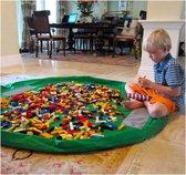 2 in 1 Speelgoed Opberg Kleed | Speelgoed Organizer | Speelmat voor Kinderen | Opbergzak Speelkleed | Diameter 1.5 Meter | Kleur Groen