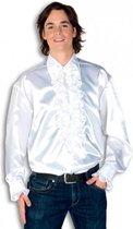 Rouche overhemd voor heren wit 2xl
