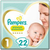 Pampers Premium Protection - Maat 1 (New Born) 2-5 kg - 22 Stuks - Luiers