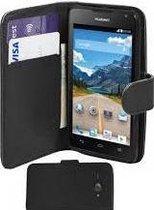 Huawei Ascend Y530 Portemonnee Hoesje Case Leder Zwart