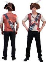 Piraat shirt met 3D opdruk voor heren M