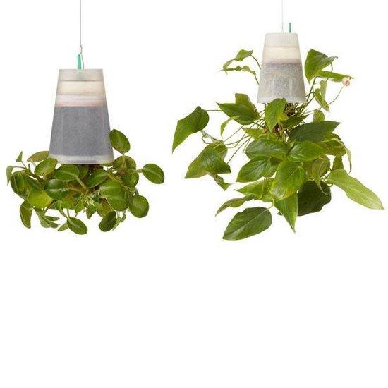 Boskke Sky Planter Recycled medium - Kunststof hangbloempot - Wit