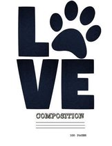 Love Dogs Composition Notebook/100 Pages