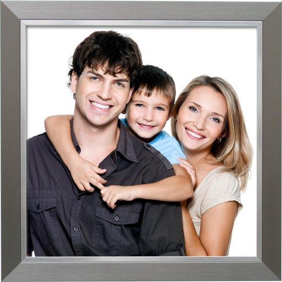 Deknudt Frames Fotolijst - Zilver met zilverbies - Fotomaat: 15x15cm