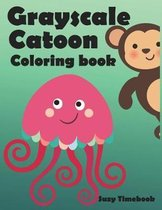 Grayscale Cartoon Coloring Book