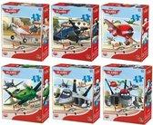 6 Planes Puzzels - 35 stukjes per puzzel
