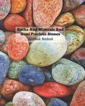 Rocks and Minerals and Semi Precious Stones Sketchbook Notebook