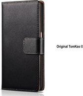 TomKas Lederen Hoesje iPhone 6, 6S - Zwart