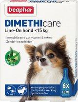 Beaphar Dimethicare Line-on Hond <15 kg - 6 Pipetten