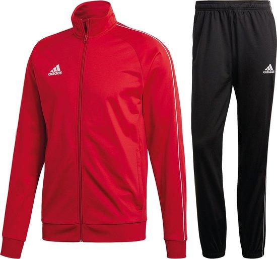 Bol Com Adidas Core18 Trainingspak Heren Trainingspak Maat Xl Mannen Rood Zwart