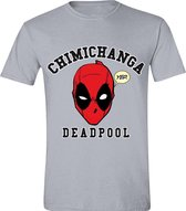 Deadpool - Chimichanga Mannen T-Shirt - Grijs - L