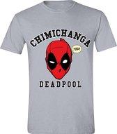 Deadpool - Chimichanga Mannen T-Shirt - Grijs - L