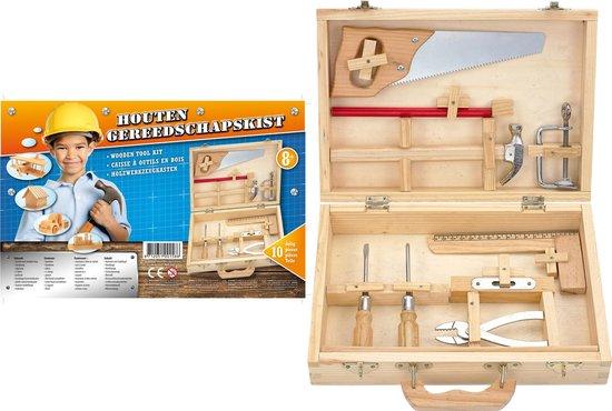 Gereedschap   Werkbank & Accessoires - Houten Gereedschapskist 10 Dlg - Van der Meulen