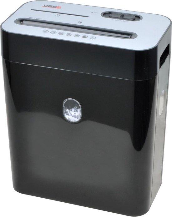 Desq 20052 papiervernietiger - Cross cut: 4 x 29 mm, ook CD's en (bank) pasjes vernietiger