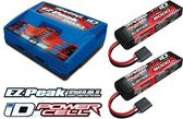 Traxxas 6S Combo Pack ID Duo Charger & 2X 11,1 5000 LiPo accu's