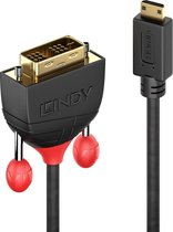 Lindy Mini HDMI an DVI-D Single Link Kabel zwart Line 0.5m