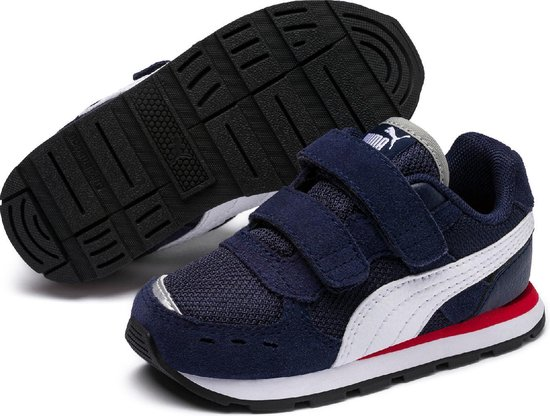 PUMA Vista V Inf Sneakers Kinderen - Peacoat / Puma White - Maat 24