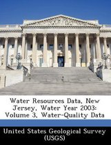 Water Resources Data, New Jersey, Water Year 2003