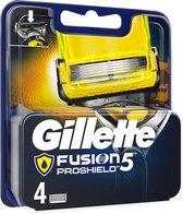 Gillette Fusion 5 Proshield Scheermesjes - Yellow 4 stuks
