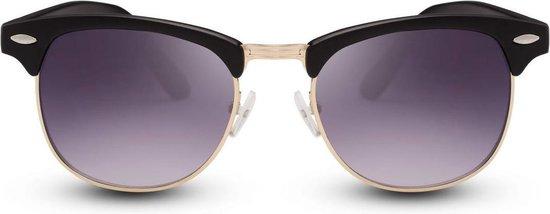 Cheapass Zonnebrillen - Clubmaster zonnebril - Goedkope zonnebril - Zwart - Cheapass Zonnebrillen
