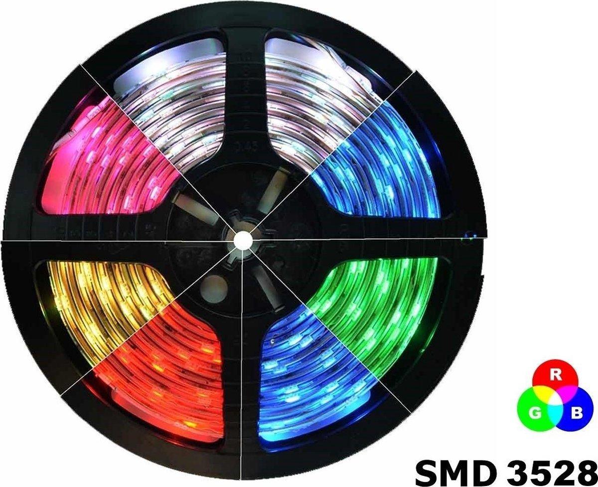 1 Meter - RGB IP20 LED Strip SMD3528 60led p/m (geen adapter en remote/controller inbegrepen)